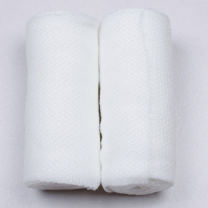 The manufacturer sells all cotton wrinkle bandages