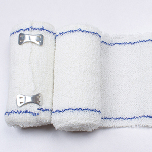 ll cotton corrugated bandage aluminum buckle white blue line first aid kit